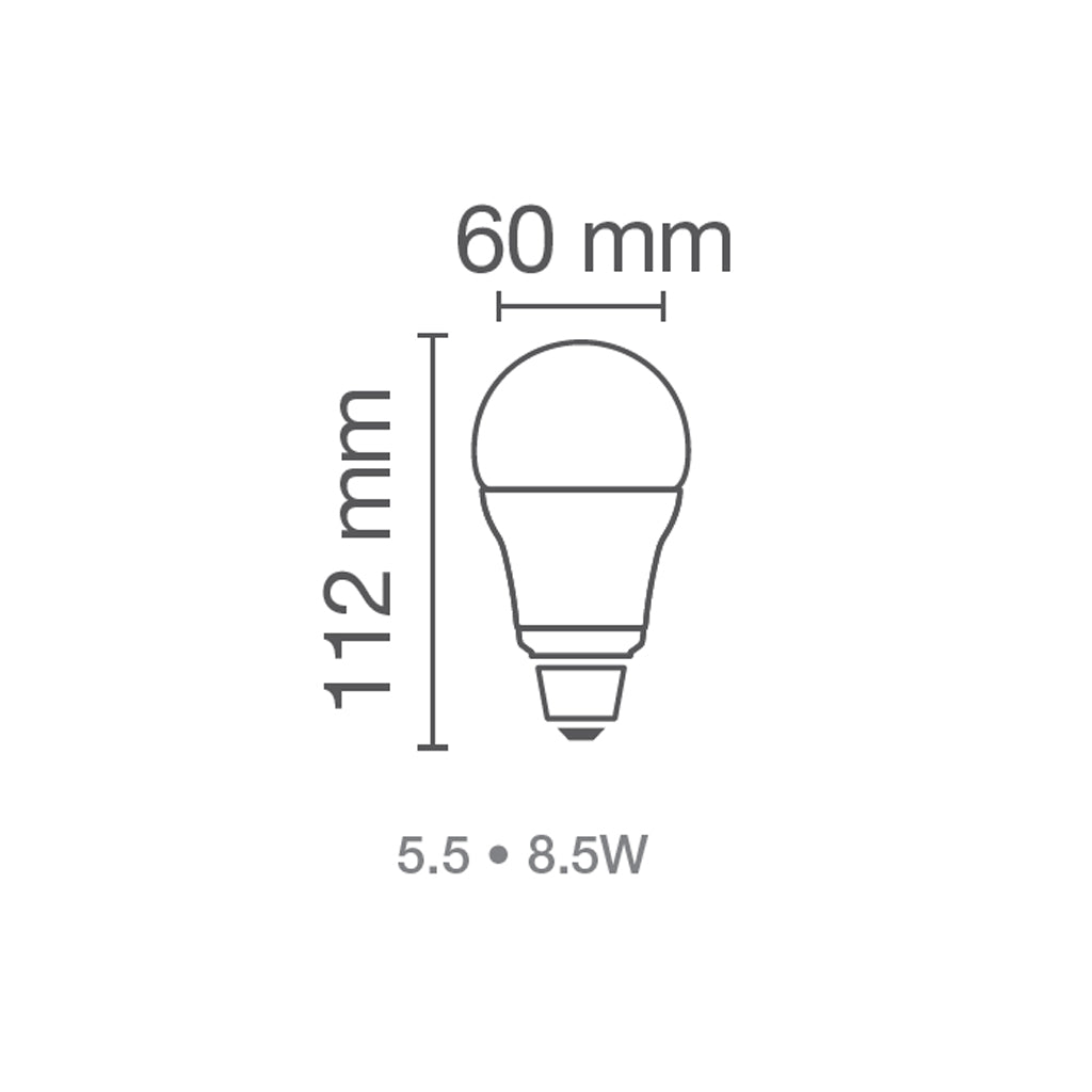 Foco LED Value G2 A60 8.5W 120V E26 marca Osram