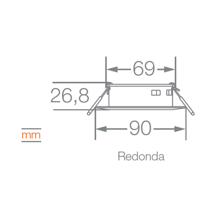 Downlight Spot Housing Redondo para MR16 de Ledvance (base GU10 incluida)