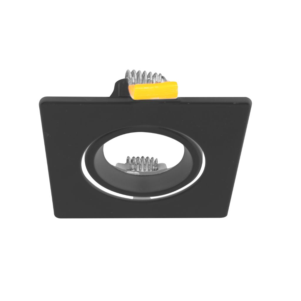 Downlight cuadrado dirigible negro o blanco mate para MR16 incluye base GU5.3 de iLumileds