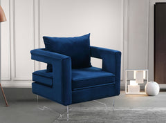 Harvey Velvet Accent Chair