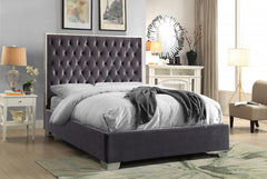Chrome Velvet Bed
