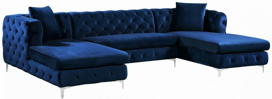 Lakeshore Velvet 3pc. Sectional