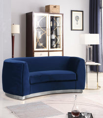Decatur Velvet Loveseat