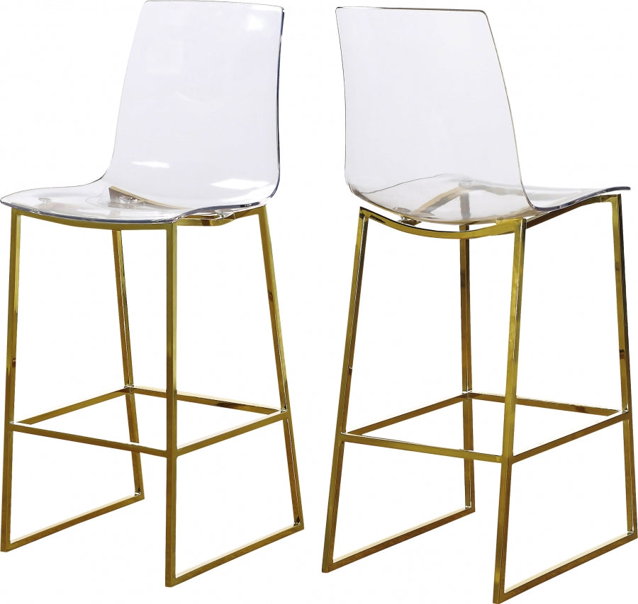 Acrylic Gold Stool