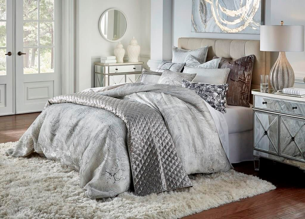 Granite Marble Duvet Cover, Grey