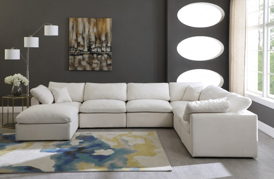 Plush Linen Sectional