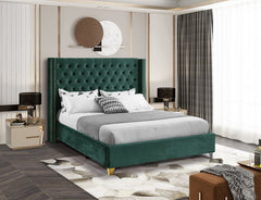 Velvet Tufted Bed