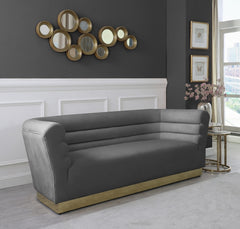 Channel Tufted Velvet Sofa
