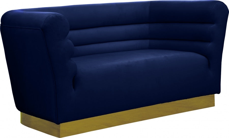 Channel Tufted Velvet Loveseat