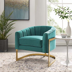 Velvet Arm Chair