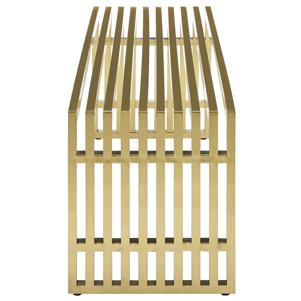Gold Large Cage Bench