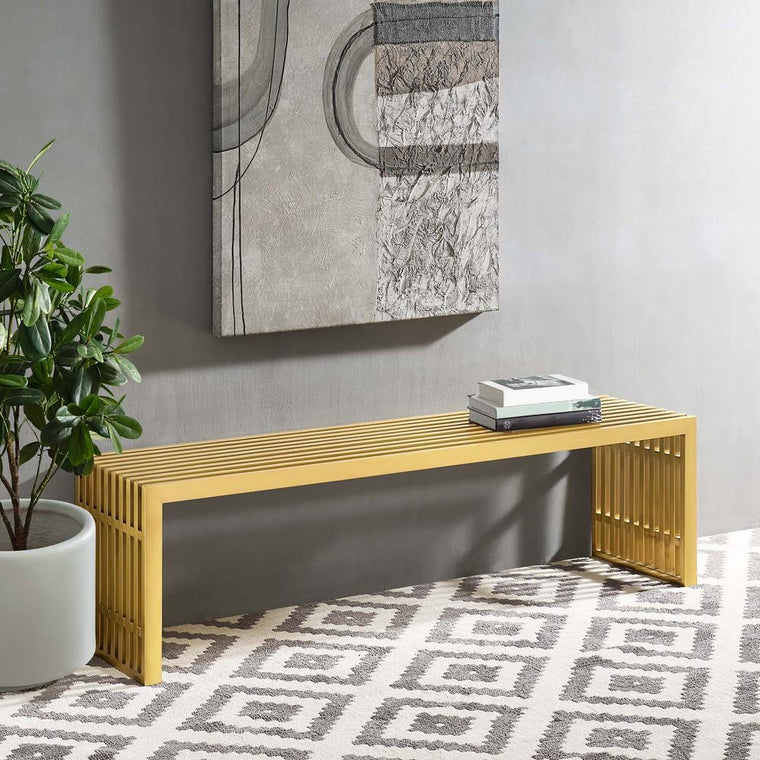 Gold Stainless Steel Bench