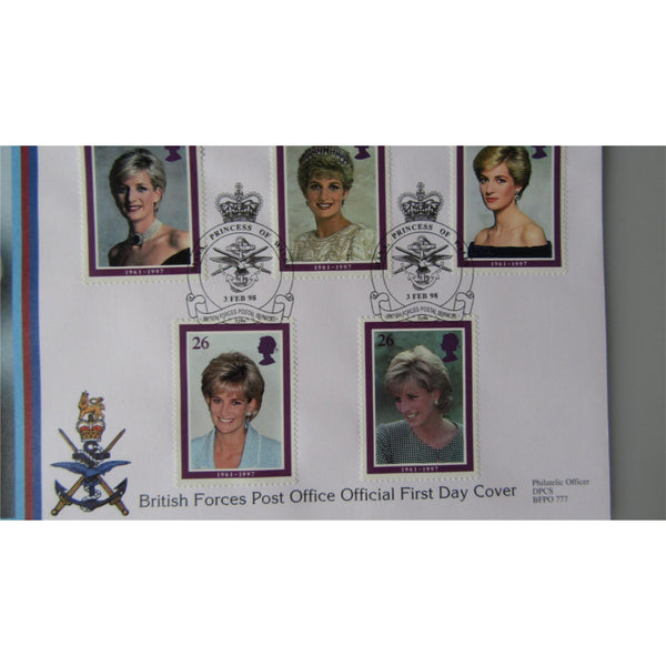 1998 G.B FDC - Diana Princess Of Wales - PM Diana Princess Of Wales, BFPS 3298 - uk-cover-lover