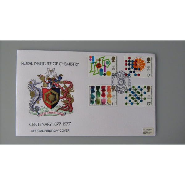 1977 Official Royal Institute of Chemistry FDC - PM Royal Institute Of Chemistry - uk-cover-lover