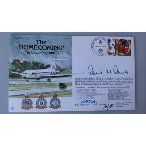 JS(AC)55 - The Homecoming - David McDonnell & 2 Others Signed Cover - 19/11/91 - uk-cover-lover
