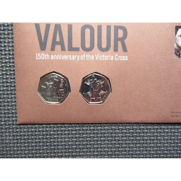2006 G.B 50p Fifty Pence Coin Cover - 150th Anniversary of the Victoria Cross