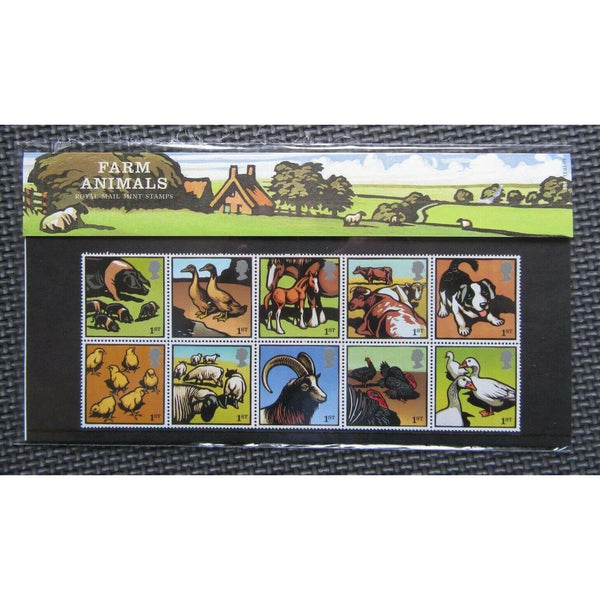 G.B Presentation Pack - Farm Animals - Pk No.367 11/01/05 - uk-cover-lover