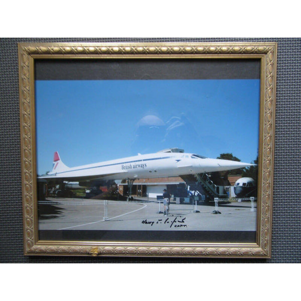 Concorde Captain Harry Linfield Signed & Framed Photo (With COA) - uk-cover-lover