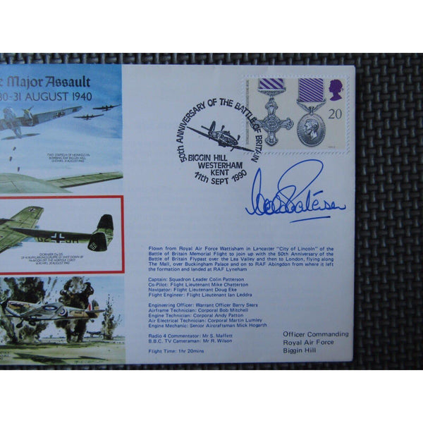 50th Anniv. Of The The Battle Of Britain Signed 'Colin Patterson' 11/09/90 - uk-cover-lover
