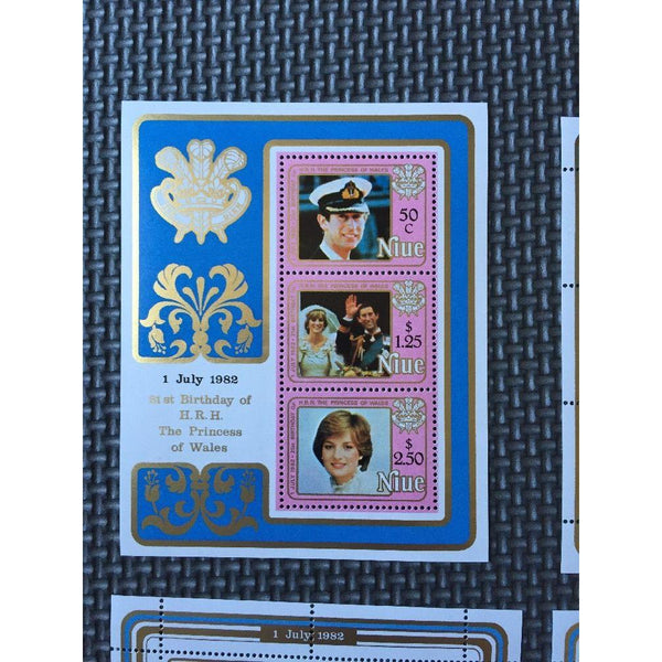 Niue - Princess Diana 21st Birthday 1982 - 3 Sheetlets & Miniature Sheet MNH - uk-cover-lover