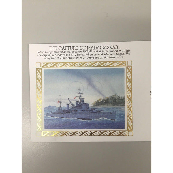"G.B Benham Cover WWII ""The Capture Of Madagaskar"" 06/11/92 BFPS 2329 PK5 - uk-cover-lover"