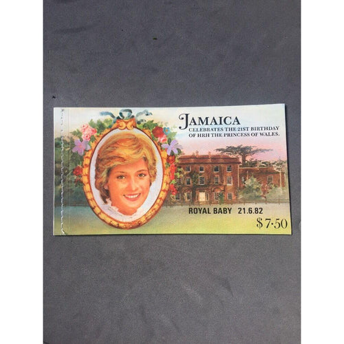 Jamaica 1982 Royal Baby Overprint Stamp Booklet $7.50 Mint - uk-cover-lover