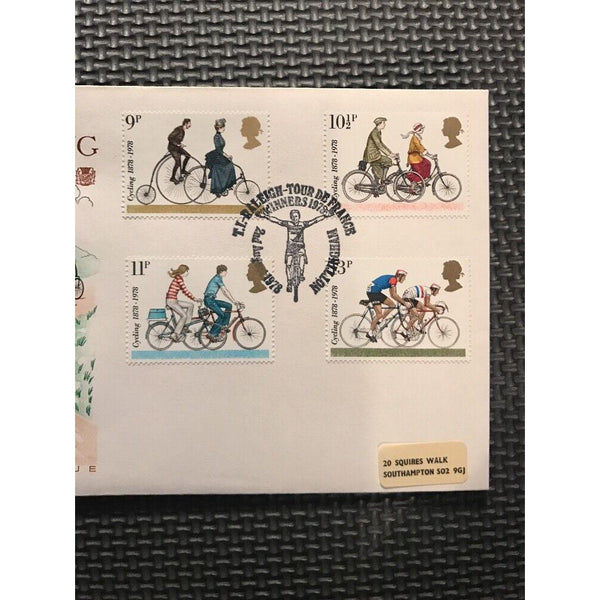 "G.B 1978 FDC Cycling Centenary - ""TI Raleigh, Tour De France, Nottingham"" - uk-cover-lover"