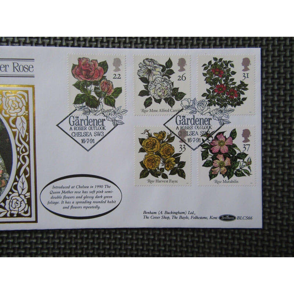 "G.B Benham Cover ""Queen Mother Rose"" BLCS 66 16/07/91 - uk-cover-lover"