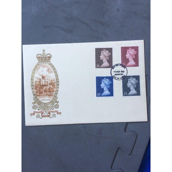 "G.B New Definitives 05/03/69 PM ""FDI Newport, Isle Of Wight"" Cat £15 - uk-cover-lover"