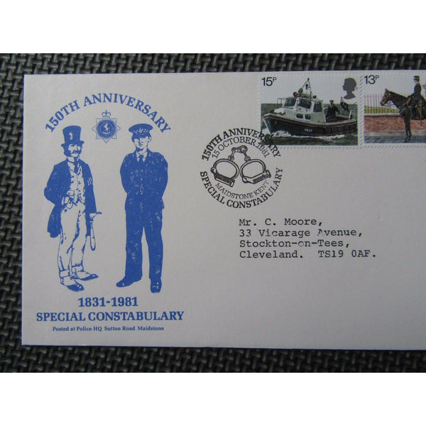 "G.B Commemorative Cover 1981 ""150th Anniversary Special Constabulary 15/10/81 - uk-cover-lover"