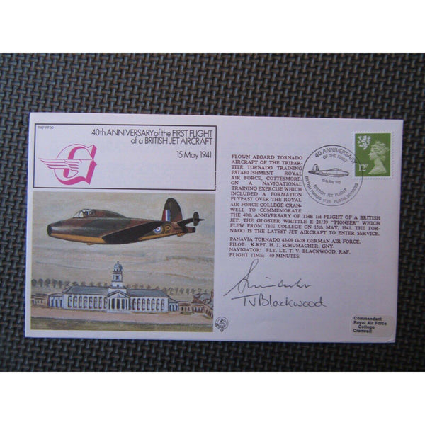 RAF FF 30 Flown Cover Signed By T V Blackwood & H J Schumacher 15/05/81 - uk-cover-lover