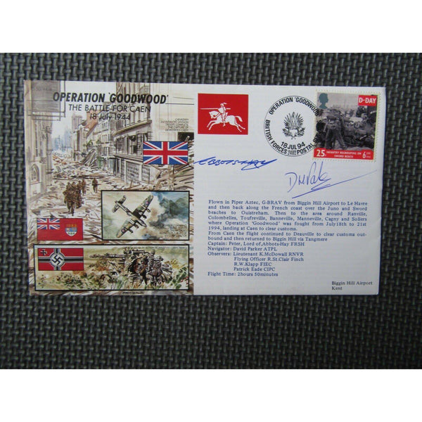 'Operation Goodwood' Dual Signed & Flown Cover (Lord Of Abbots Hay & ?) 18/07/94 - uk-cover-lover