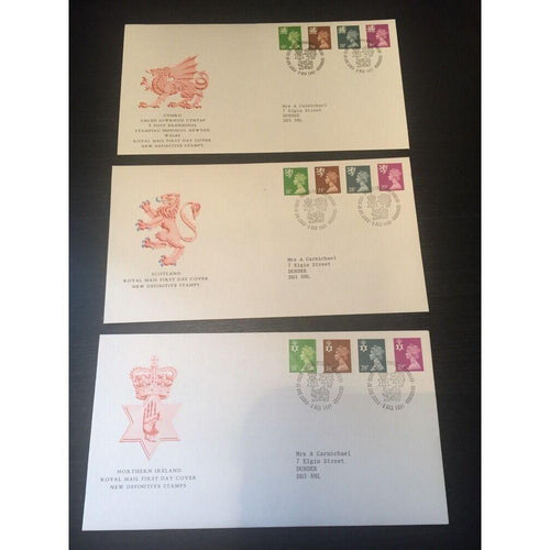 1991 Regional New Definitives Complete Set Of 3 SHS'S CV £25 03/12/91 - uk-cover-lover
