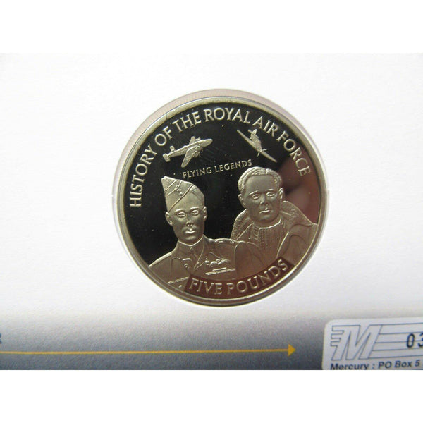 History Of The RAF - Sir Douglas Bader - Jersey £5 Coin Cover - 19/05/08 - uk-cover-lover