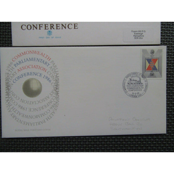 "G.B FDC X 2 ""Parliamentary Conference"" 2 Collectible Postmarks, 19/08/86 - uk-cover-lover"