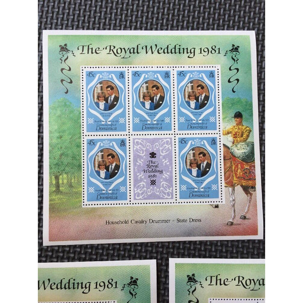 Dominica - Royal Wedding 1981 - 3 Souvenir Sheets MNH - uk-cover-lover