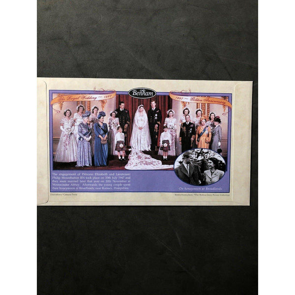 Benham FDC Royal Golden Wedding PM Buckingham Palace Rd, London SW1 - 13/11/97 - uk-cover-lover