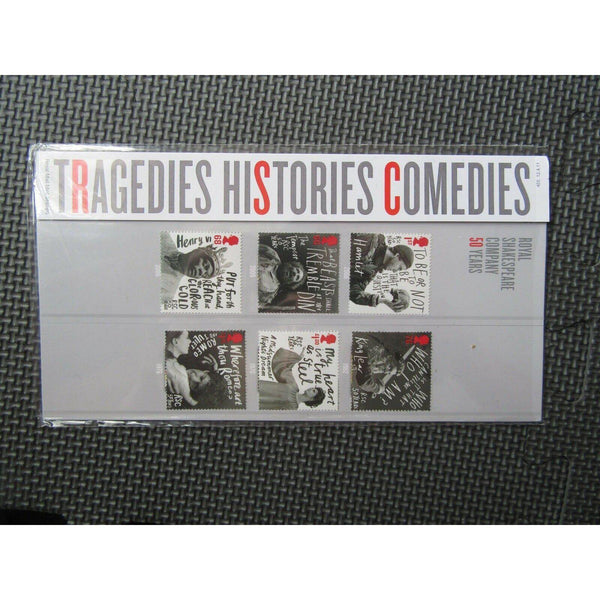 "G.B Presentation Pack ""Tragedies Histories Comedies"" Pk No.455 12/04/11 - uk-cover-lover"