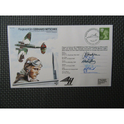RAF TP16 'Gerhard Nitschke' Multiple Signed & Flown Cover 30/05/81 - uk-cover-lover