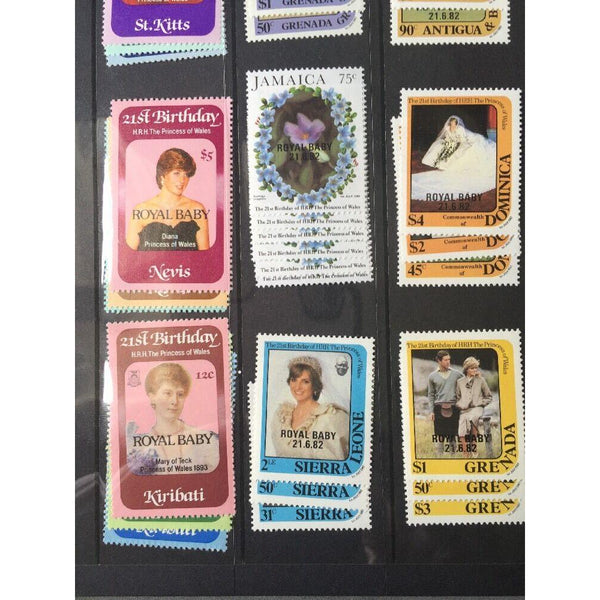 21st Birthday Of The Princess Of Wales / Royal Baby Mixture Of MNH Stamp Sets - uk-cover-lover
