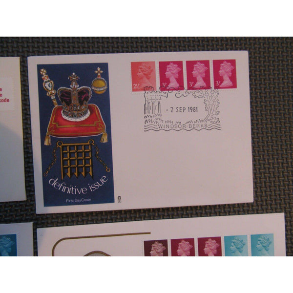 4 G.B Stamp Coil FDC's 1970's & 1980's (Please See Pics) - uk-cover-lover