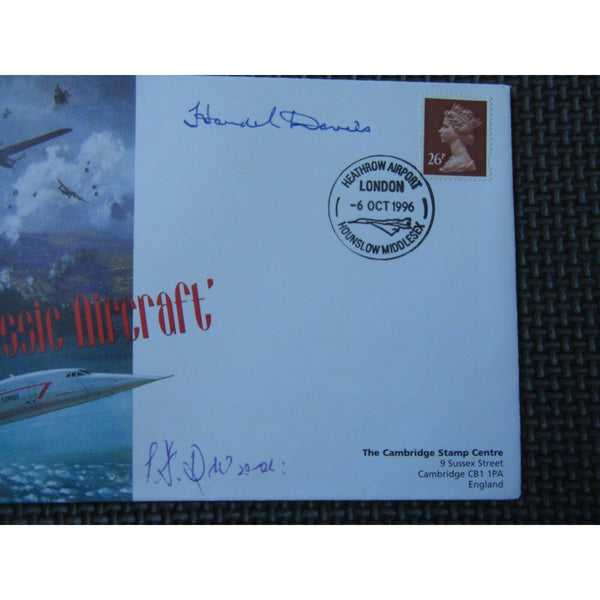 Classic Aircraft Lancaster & Concorde H Davies & P F Durose Flown & Signed Cover - uk-cover-lover