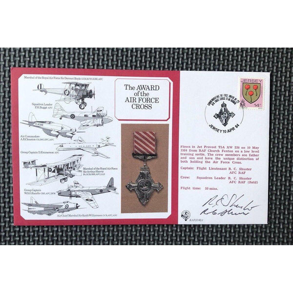 The Award Of The Air Force Cross - Shuster & Shuster Signed Cover 10/04/84 - uk-cover-lover