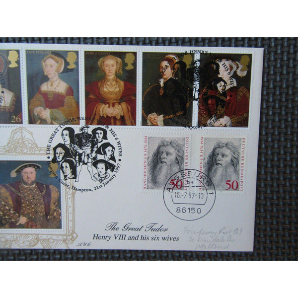 1997 Limited Edition Special Commemorative  FDC 'The Great Tudor' 21/01/97 - uk-cover-lover