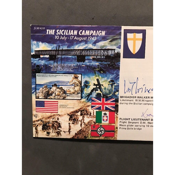 The Sicilian Campaign Signed by W.M. Wingate-Gray & D.M. Warner Ltd Edition - uk-cover-lover