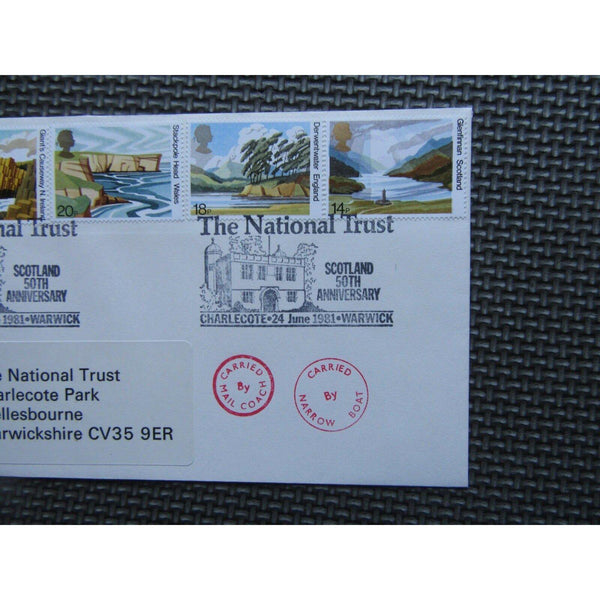 "Official ""National Trusts"" PM ""The N.T. Scotland, Charlecote, Warwick"" 24/06/81 - uk-cover-lover"