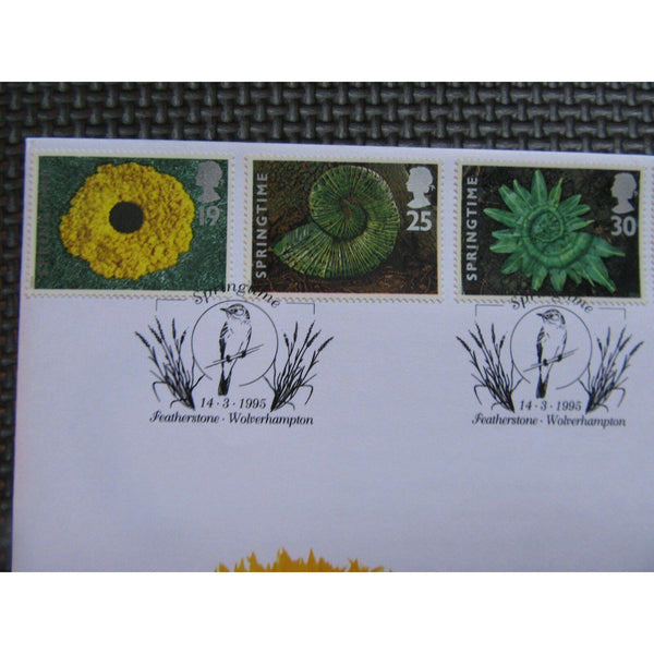"G.B First Day Cover ""Springtime"" PM ""Springtime, Featherstone"" 14/03/95 - uk-cover-lover"