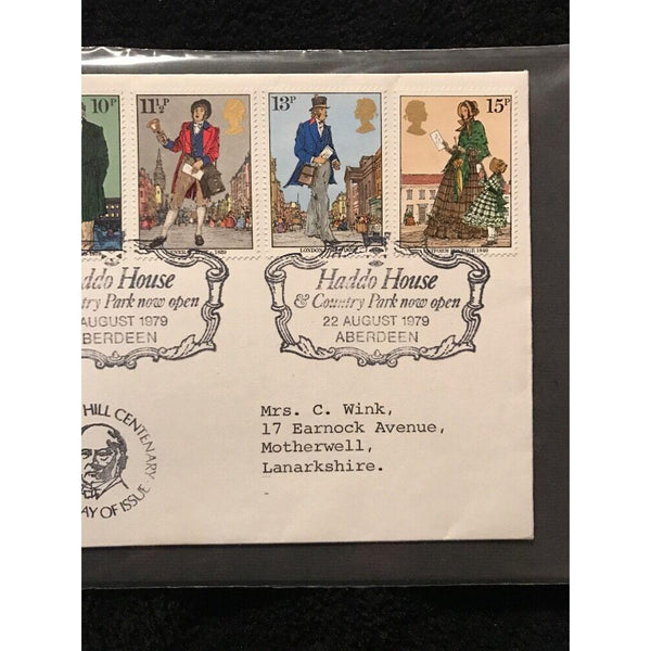 Sir Rowland Hill - National Trust For Scotland  First Day Cover 22/08/79 Cat £25 - uk-cover-lover
