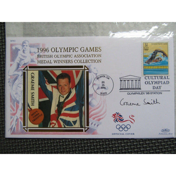 "1996 Olympic Games Atlanta Bentham Cover Signed ""Graeme Smith"" 26/07/96 - uk-cover-lover"