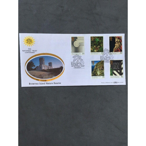 "G.B FDC National Trust 11/04/95 - PM ""Brownsea Island, Poole"" - Cat £12 - uk-cover-lover"